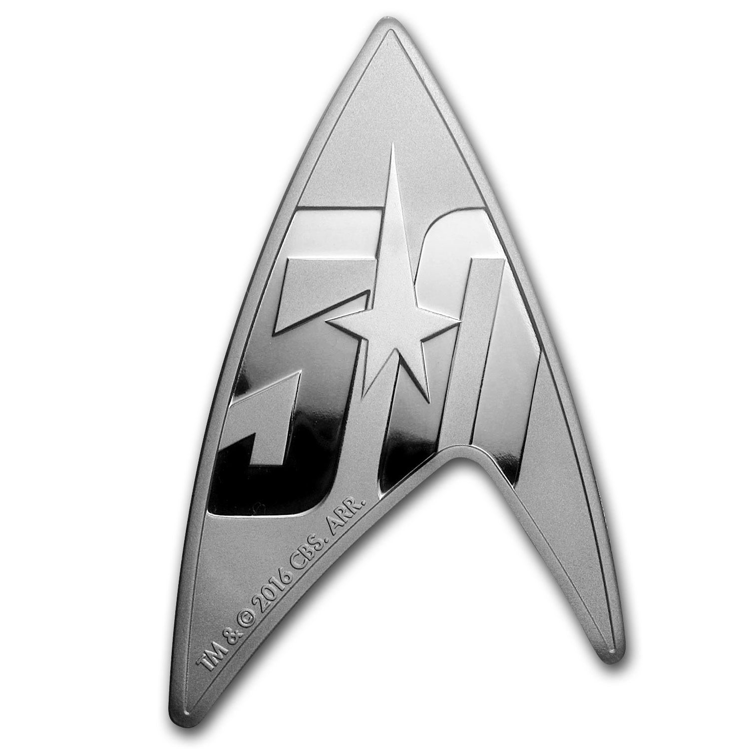 2016 Tuvalu 1 oz Silver Star Trek: Delta Shaped Coin